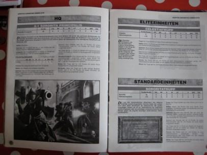 Die erste Armeeliste in der dritte Edition.