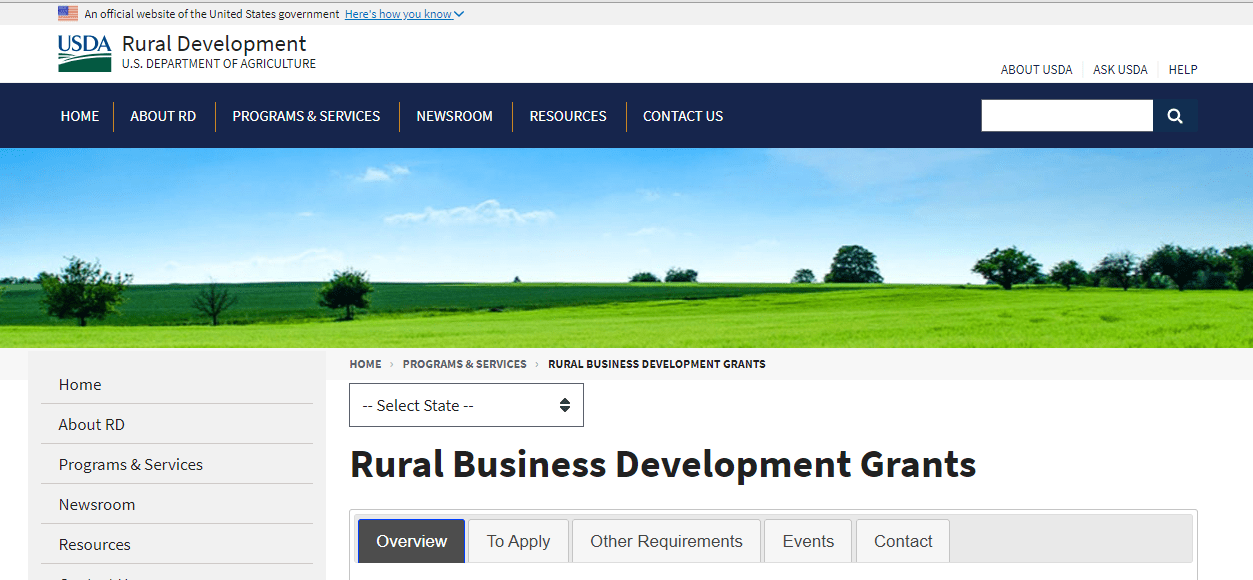 list of small business grants
