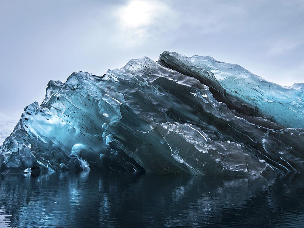 Underside of an Antarctica Iceberg