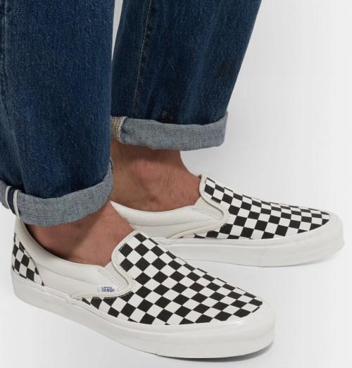1aa89fa64b9b0f Vans - OG Classic LX Checkerboard Canvas Slip-On Sneakers - LYFSTYL