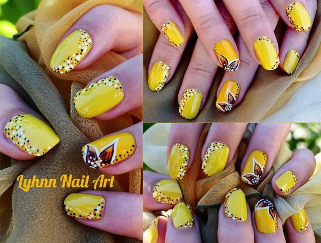 Fleurs et pois jaune