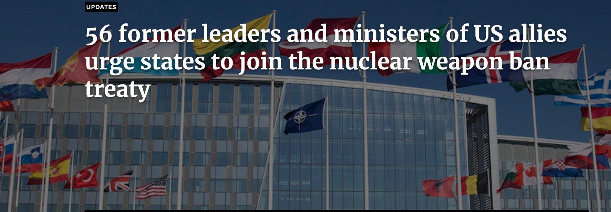 Opfordring til stop for atomvåben