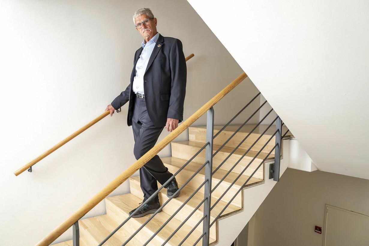 Lykketoft på trappe