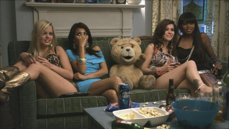 ted movie review -ted with the hookers