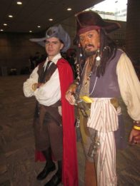baltimore comic con 2012 - Will Turner and Capt. Jack Sparrow