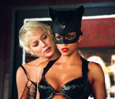 Catwoman Sharon Stone and Halle Berry