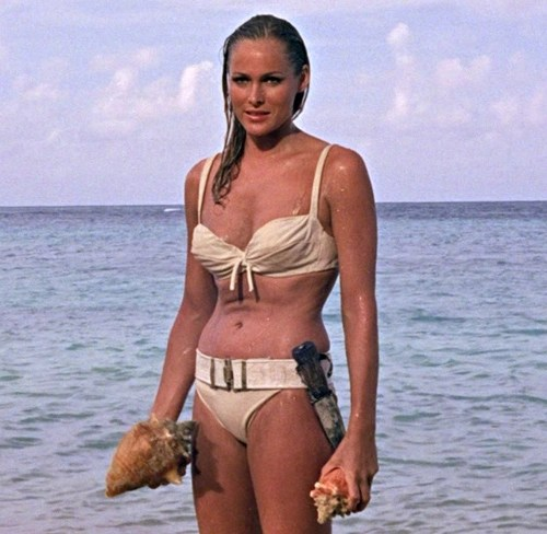Dr. No Ursula Andress as Honey Ryder in bikini