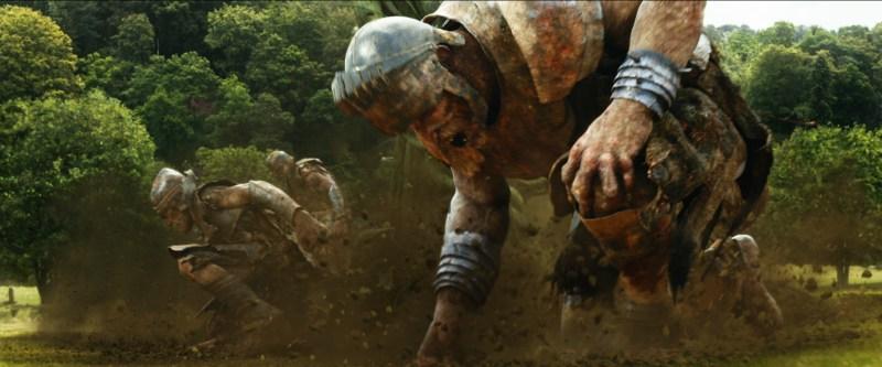 Warner Bros. PicturesThe giants arrive for battle.