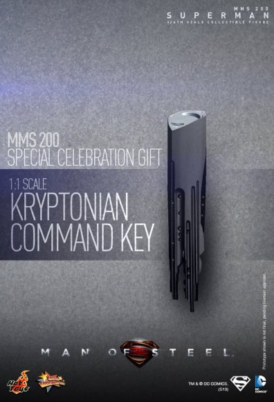Hot Toys Man of Steel Superman Krypton command key