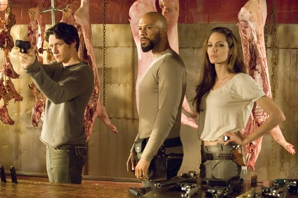 wanted movie - james mcavoy, common and angelina jolie