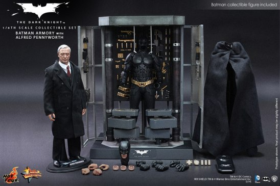 Hot Toys The Dark Knight Batman Armory - Alfred with accessories
