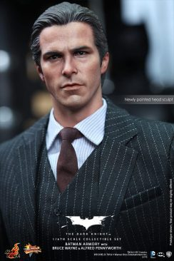 Hot Toys The Dark Knight Batman Armory - Bruce Wayne close up