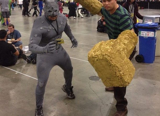 Cosplay Confidential Ben Esguerra as Sandman with pal