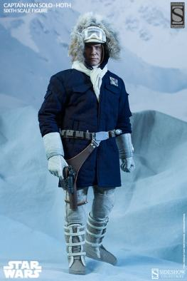 Sideshow Toys Captain Han Solo Hoth with gun
