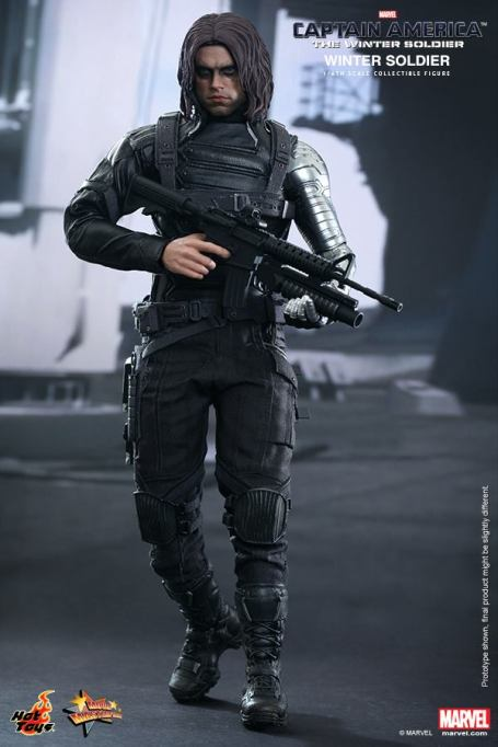 Hot Toys Captain America The Winter Soldier - Winter Soldier maskless with gun