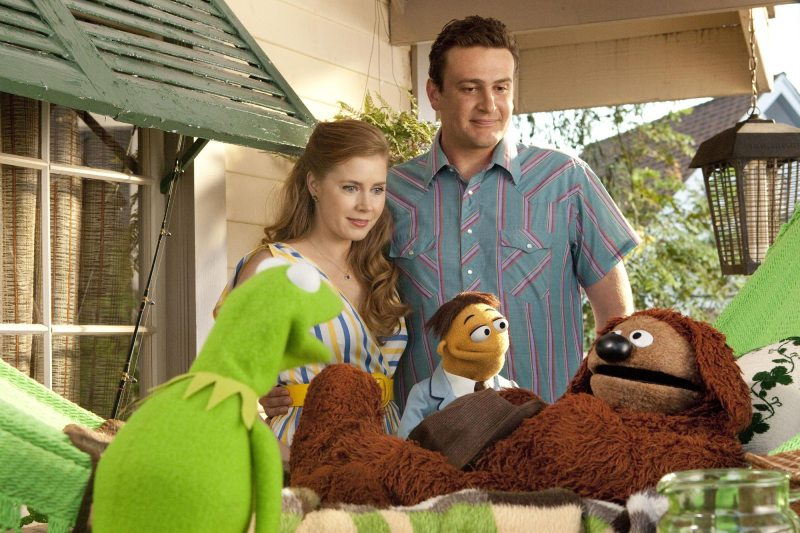 The Muppets 2011 - Kermit, Amy Adams, Jason Segal and Rowlf