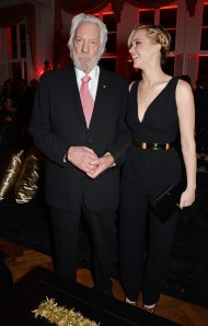 David M. Benett/Getty ImagesDonald Sutherland (L) Jennifer Lawrence.
