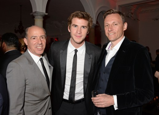 David M. Benett/Getty Images Producer Jon Kilik, Liam Hemsworth and Zygi Kamasa, CEO of Lionsgate UK.