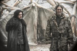 game of thrones - season 4 episode 10 - the children - jon snow and mance