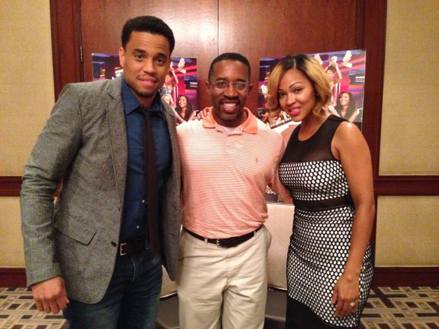Michael Ealy, me and Meagan Good