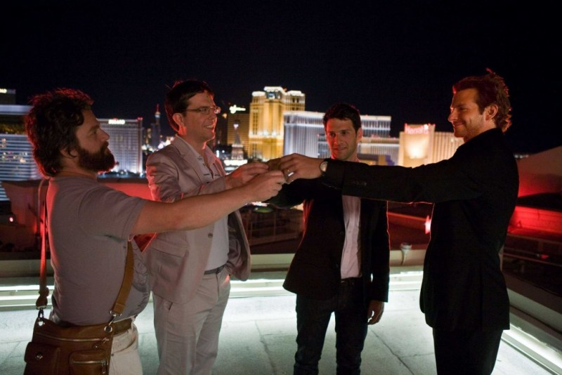 The Hangover 2008 - Bradley Cooper, Zack Galfinakis, Ed Helms and Justin Bertha