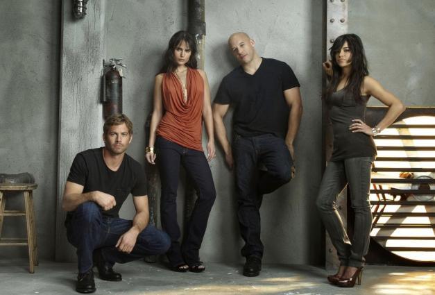 Fast-and-Furious-7-Paul-Walker-Vin Diesel, Michelle Rodriguez, Jordanna Brewster