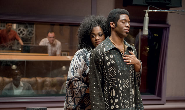 D. Stevens/Universal Pictures DeeDee Brown (Jill Scott) and James Brown (Chadwick Boseman).