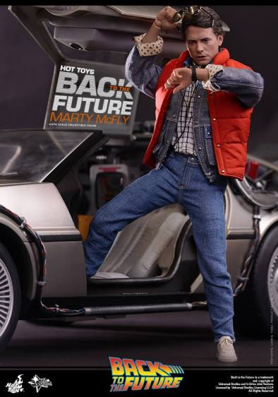 Hot Toys Back to the Future Marty McFly movie poster style vertical