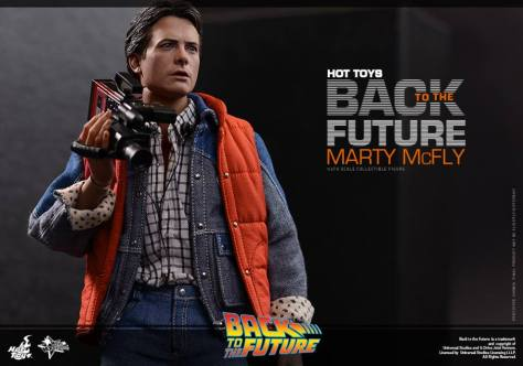 Hot Toys Back to the Future Marty McFly with recorder close up
