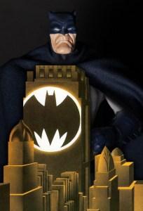 Mezco Dark Knight Returns Batman blue figure cover homage