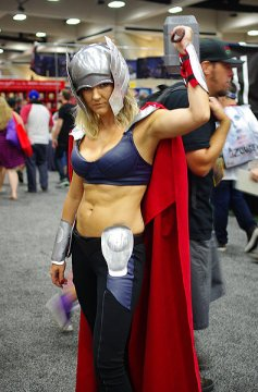 SDCC14 cosplay - Lady Thor