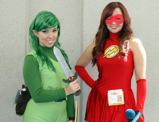 SDCC2014 cosplay - Link and Flash