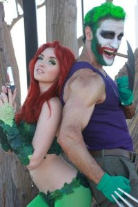 Lonstermash as Joker Wolverine with Poison Ivy