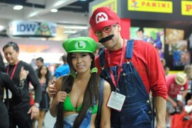 SDCC2014 cosplay - Luigi and Mario
