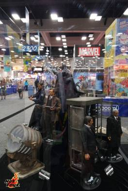 SDCC2014 Hot Toys display - Dark Knight Blake, Gordon, Wayne and Alfred display
