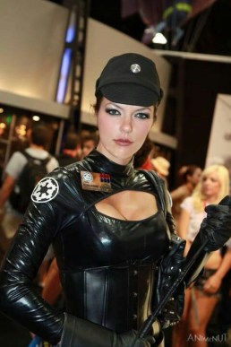 Adrianne+Curry HOT in Imperial officer cosplay