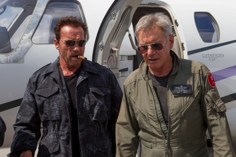 The Expendables 3 - Arnold Schwarzenegger and Harrison Ford