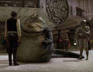 Han Solo and Jabba the Hut and Boba Fett Star Wars special edition