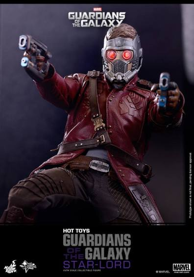 Hot Toys Guardians of the Galaxy - Star Lord aiming guns
