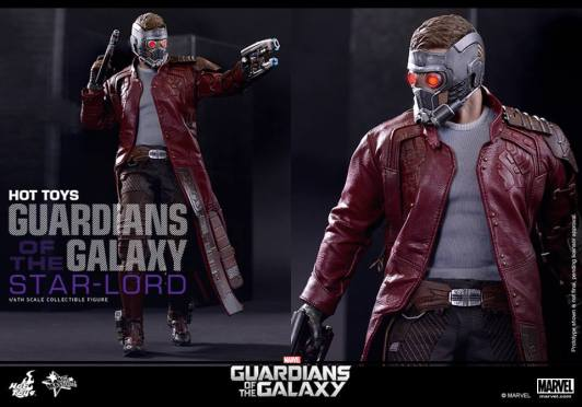 Hot Toys Guardians of the Galaxy - Star Lord with mask and guns pair