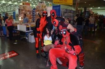 Baltimore Comic Con 2014 - Deadpool army and Zatanna