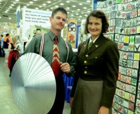 Baltimore Comic Con 2014 - Howard Stark and Peggy Carter
