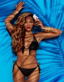 beyonce black bikini