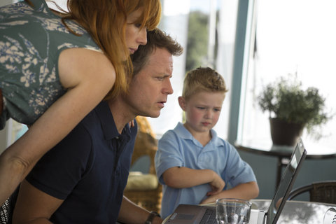 "Allen Fraser/TriStar Pictures (From left) Kelly Reilly, Greg Kinnear and Connor Corum in ""Heaven Is for Real."""