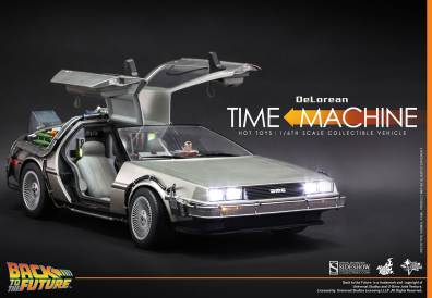 Hot Toys Back to the Future DeLorean side with doors open