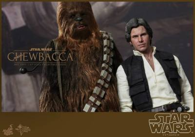 Hot Toys Star Wars Chewbacca - hanging with Han