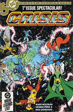 Crisis on Infinite Earths cover