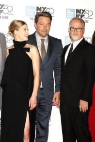 Dave Allocca/Starpix Rosamund Pike, Ben Affleck, David Fincher
