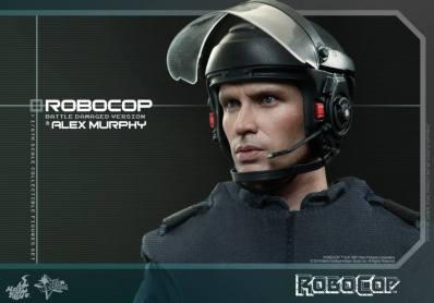 Hot Toys Robocop and Alex Murphy set - Murphy helmet side
