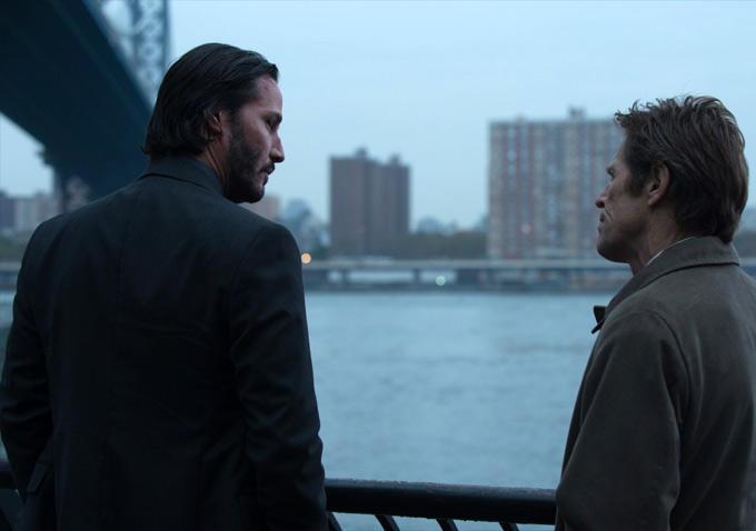 John Wick - Keanu Reeves and Willem Dafoe